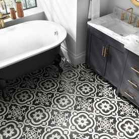 1 50 Per 8x8 In Tile Lowe S Bathroom Floor Wallpaper