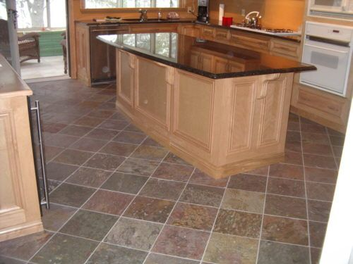 Slate Tile Floors, In Kitchen, Eating Area And Entry Way.