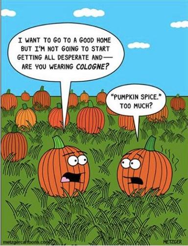 Pumpkin jokes in the fall are as enjoyable as a good