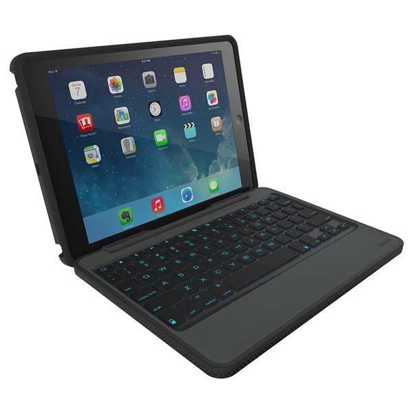 Zagg Rugged Folio Keyboard Case For Ipad Air And Ipad Mini Gadgetsin Ipad Mini Keyboard Case Ipad Air Case