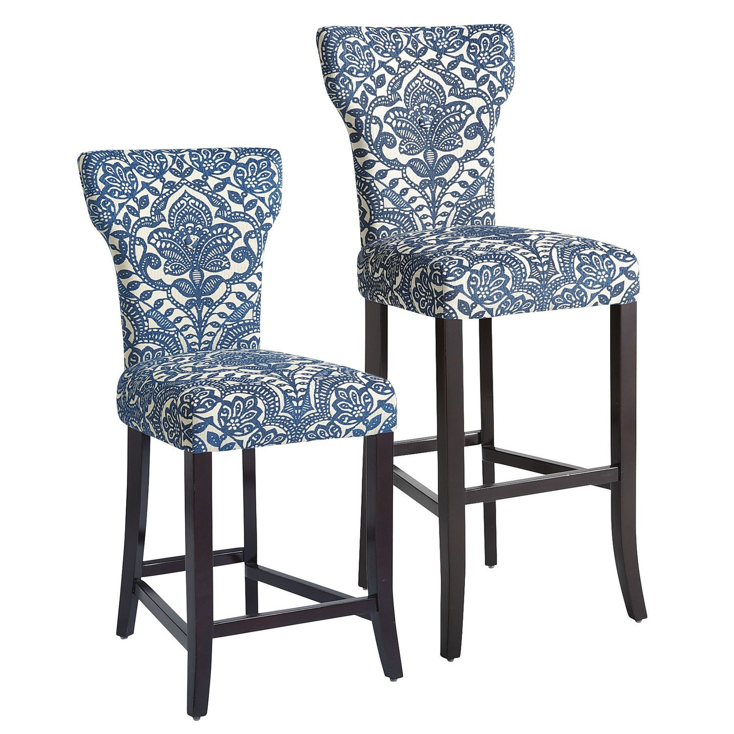 Carmilla Bar Counter Stools Blue Damask Pier 1 Imports