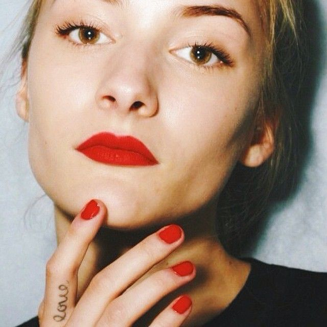 Red Lips And Red Nails French Scrapbook Beauty Lip Service