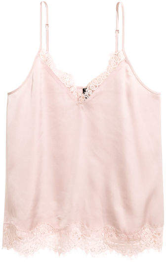 f04f29ea769d8 H M Satin Camisole Top - Pink