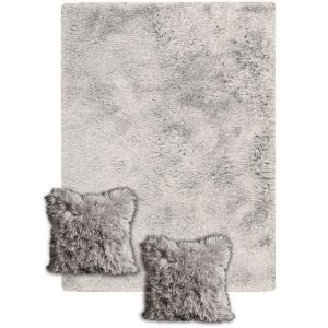 Nourison Three S Company Silver Tone 5 Ft X 7 Ft Area Rug With 2