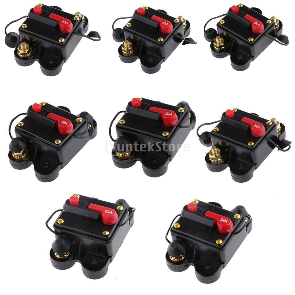 918 Aud 20amp 300 Amp Manual Reset Circuit Breaker Switch 12v Turning Off A 888 24v Car
