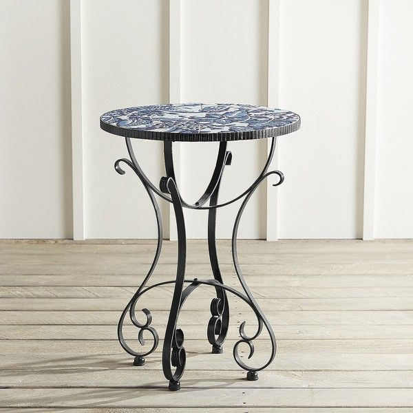 Pier 1 Imports Florence Mosaic Accent Table ($170) ❤ liked on Polyvore featuring home, furniture, tables, accent tables, blue, mosaic accent table, floral furniture, pier 1 imports furniture, pier 1 imports and mosaic furniture