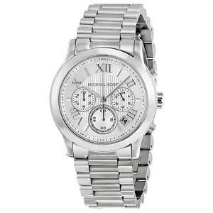 Michael Kors Mk6273 Armbanduhr Silber Chronograph Edelstahl Damenuhren Michael Kors Uhr Damenuhr