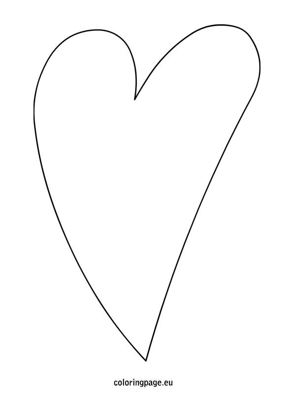 Elongated Heart Template Heart Template Heart Shapes Template