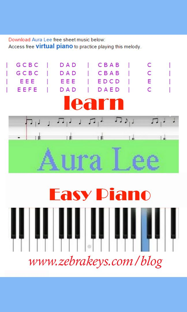 Pin by Zebra Keys on How to Play Easy Piano Songs | Easy piano songs