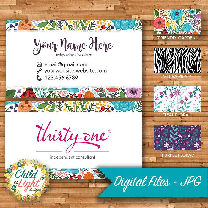 Thirty One Business Cards - Independent Cards - Custom Business Card ...