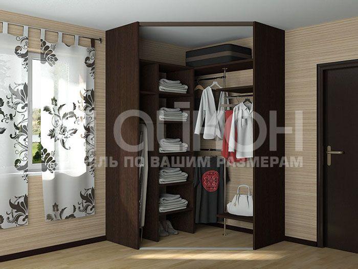 Гардеробный угловой шкаф | Угловой шкаф, Шкафы для ...  Дизайн Спальни С Угловой Гардеробной