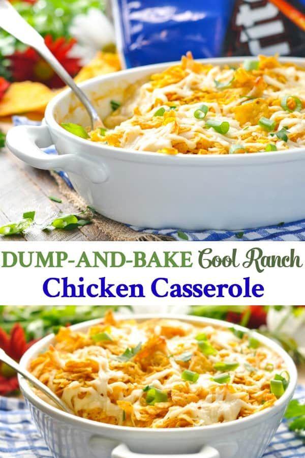 Dump-and-Bake Cool Ranch Chicken Casserole