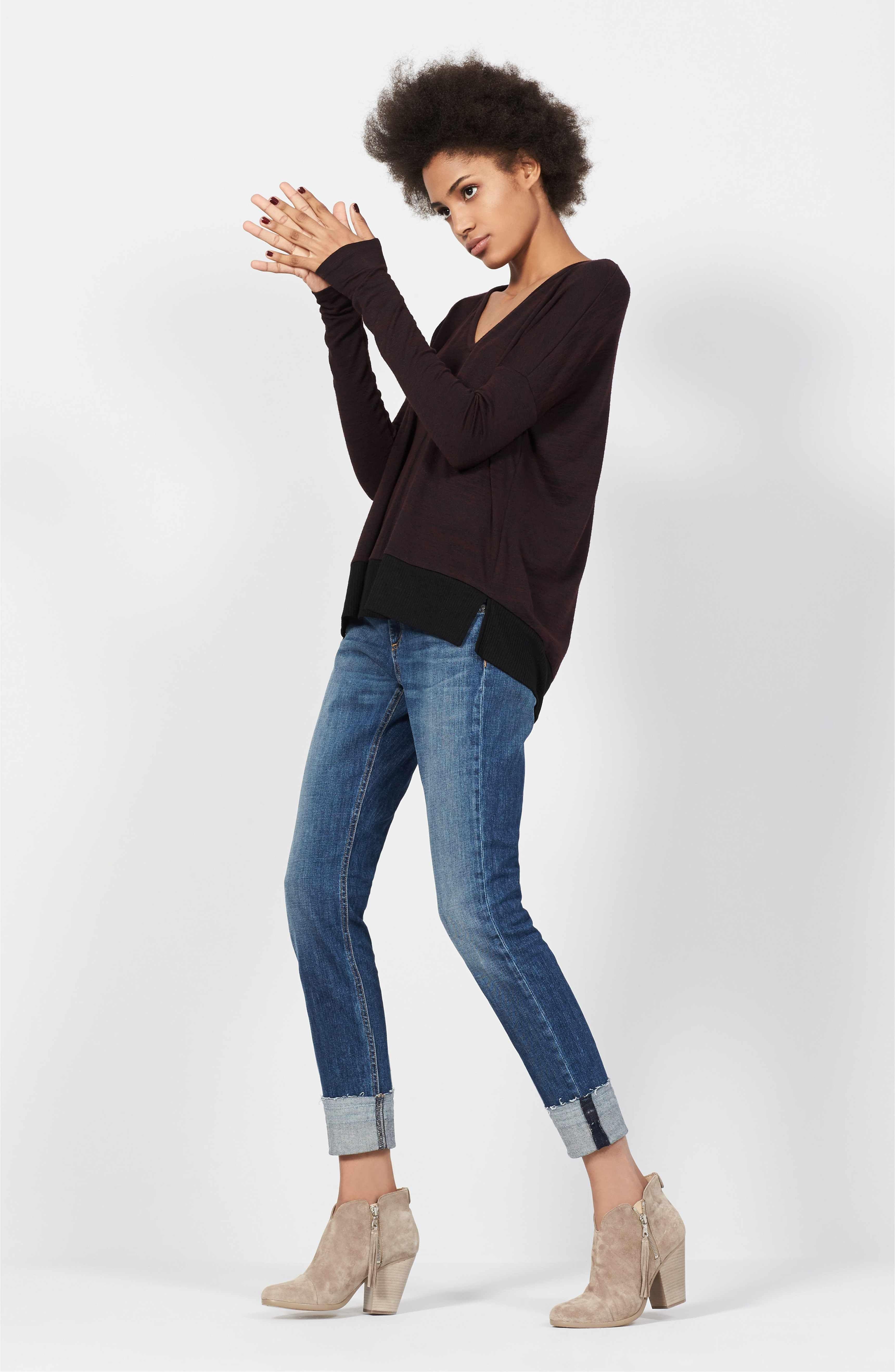 c64059f59303 Main Image - rag & bone/JEAN Double Vee Long Sleeve Tee | clothing ...