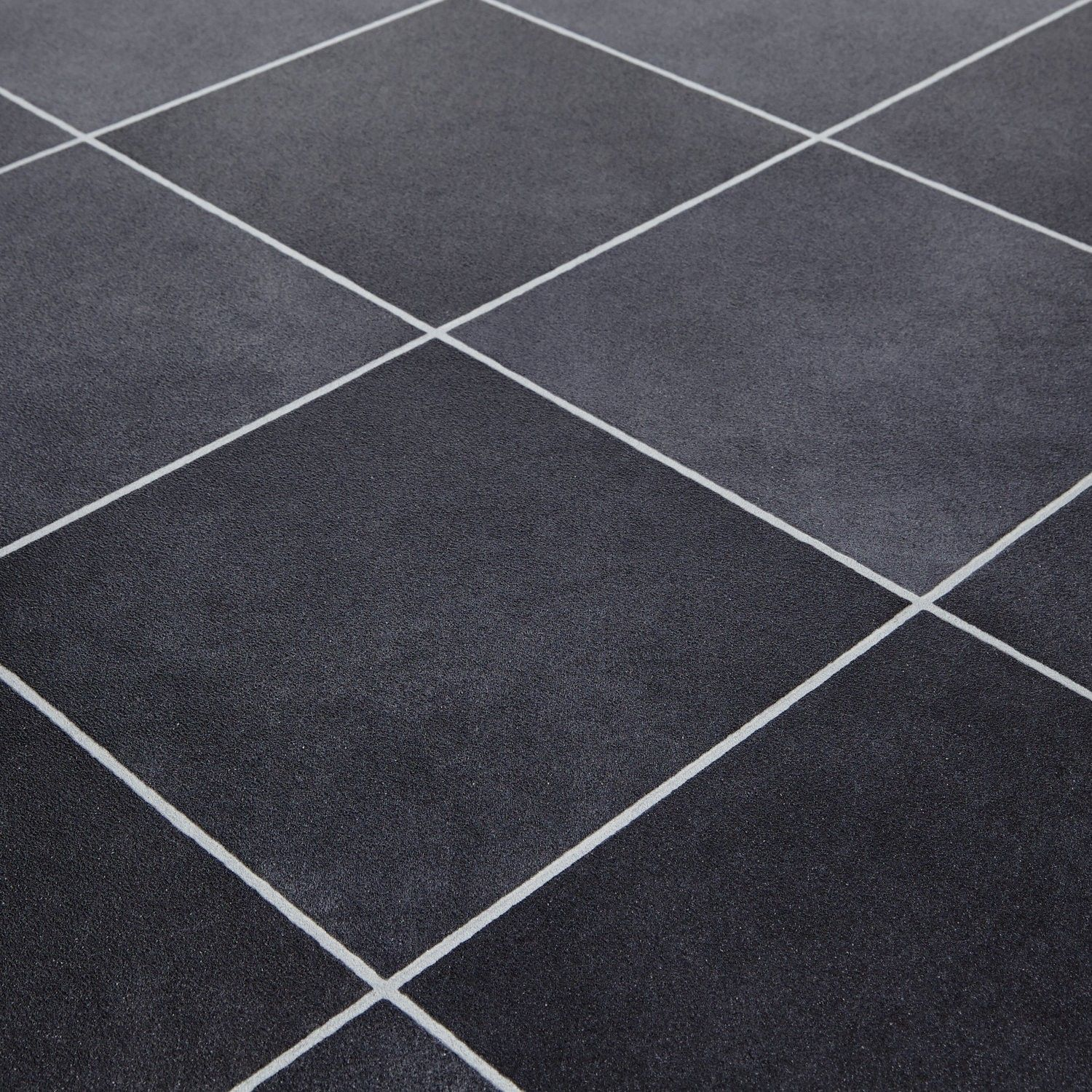 Mardi gras 598 durango black stone tile vinyl flooring for Black vinyl floor tiles