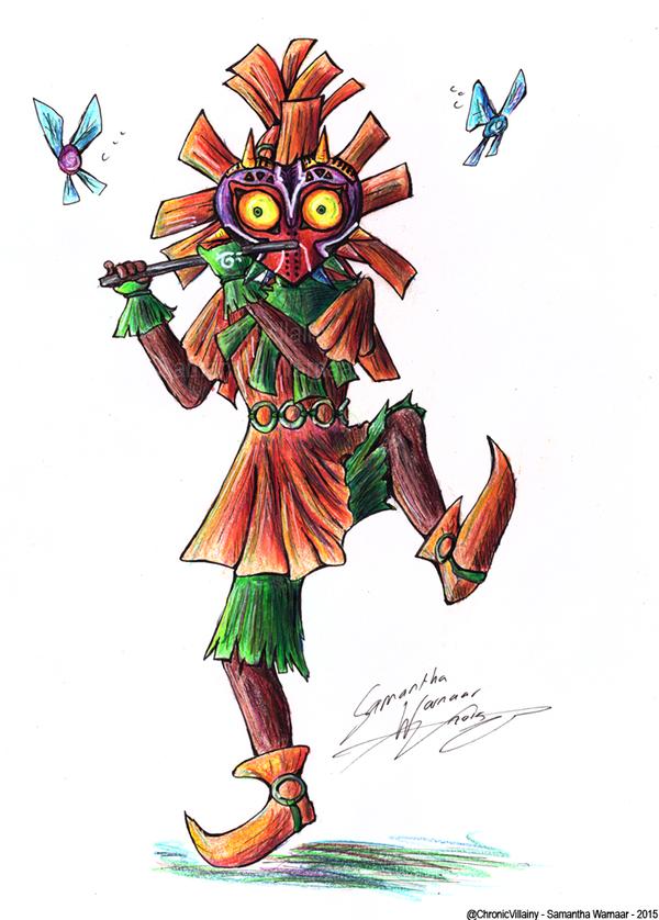Majora's Mask Drawing : majora's, drawing, Majoras