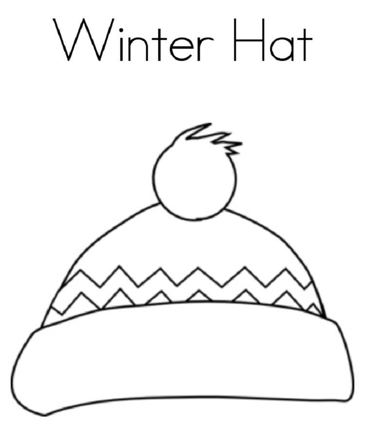 Winter Hat Coloring Pages Coloring Pages Winter Birthday Coloring Pages Winter Hats