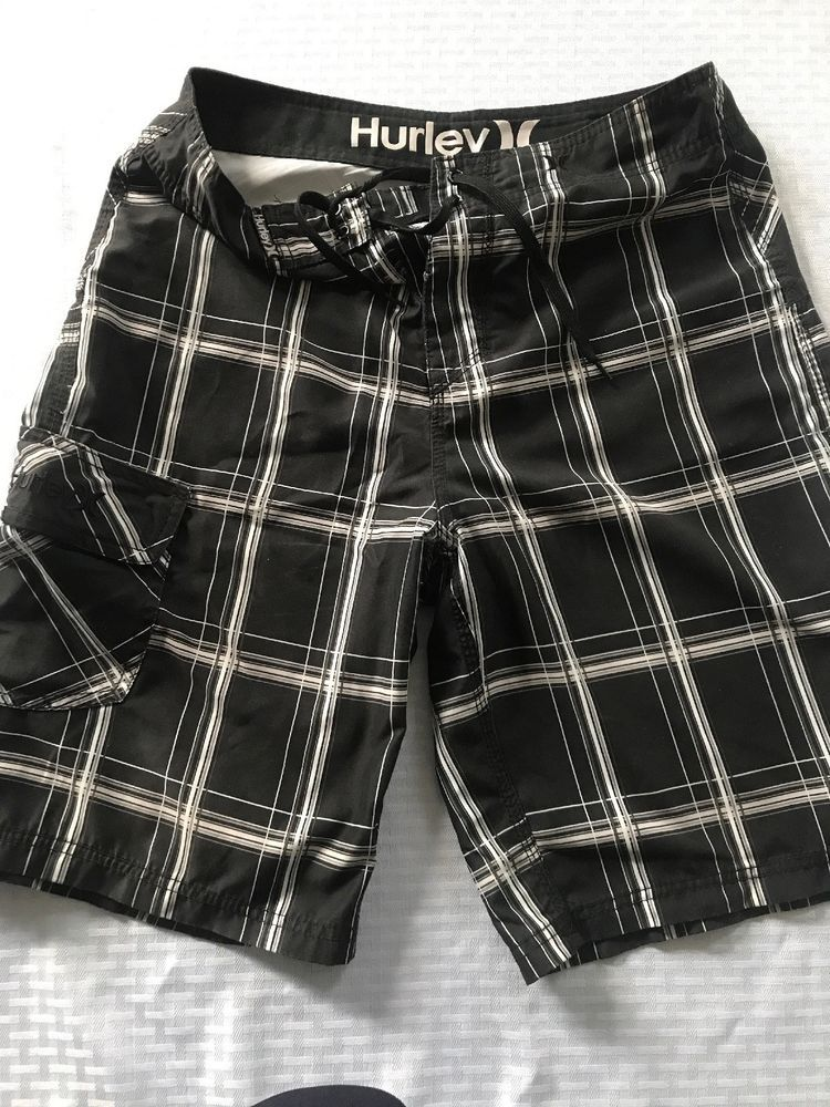 3f18fdace1 Mens Hurley Size 30 Black And White Shorts #fashion #clothing #shoes  #accessories #mensclothing #swimwear (ebay link)