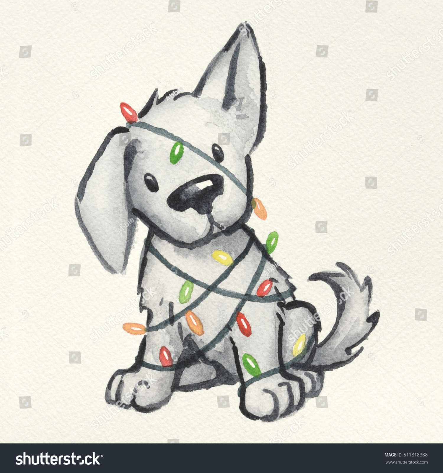 Pin By Amy Lyons On Design Illustration Cute Dog Drawing