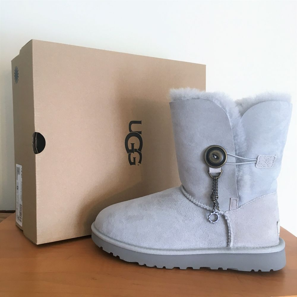 d5d9b90d466 New UGG Azalea Charm Suede Women's Boots ~ Grey Lavender Size 6 NIB ...