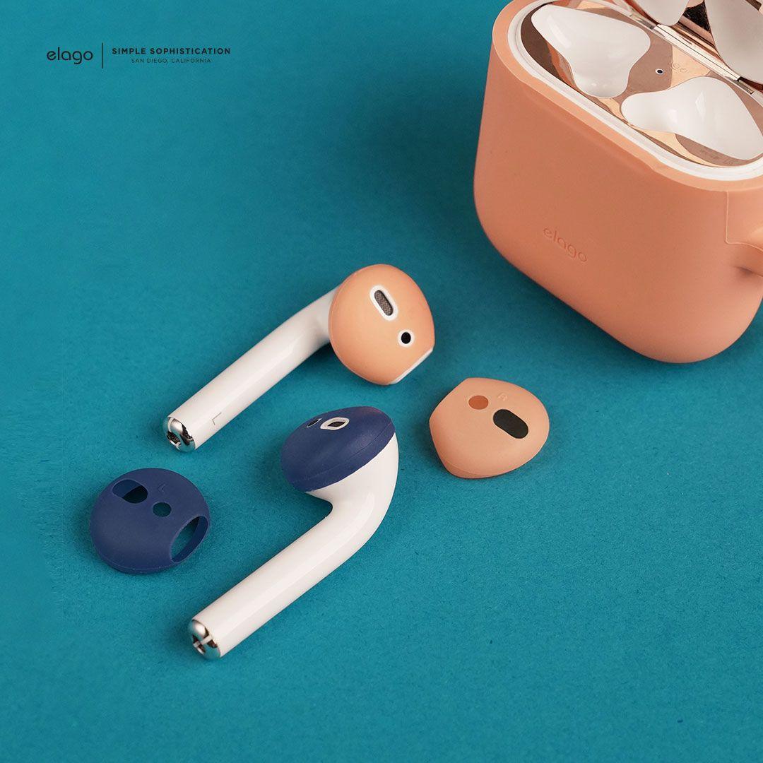 online store 9e3c4 2e2fe elago AirPods Secure Fit Cover [Jean Indigo/Peach ...