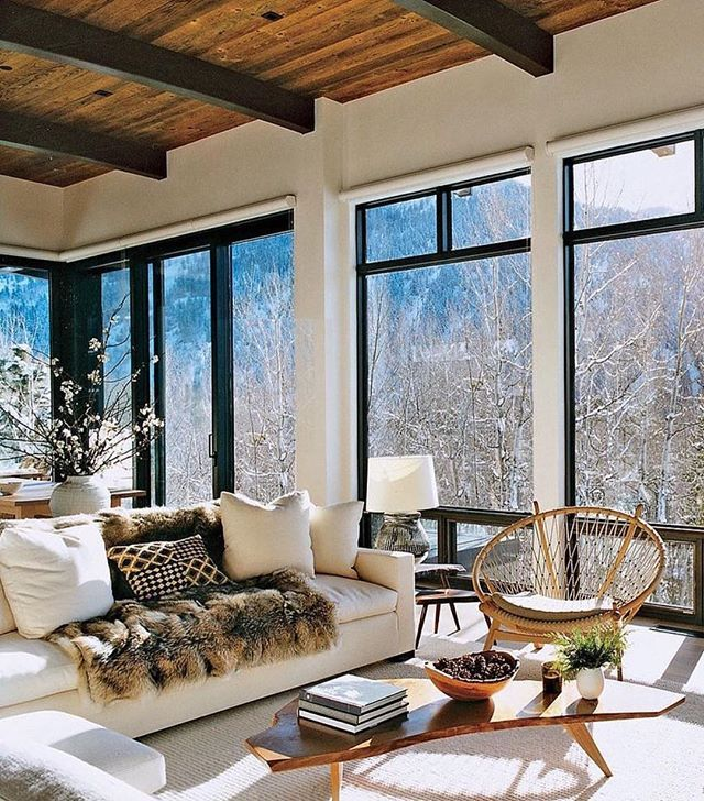 Big Windows And Heavy Furs Are Whatu0027s Needed To Feel Cozy In Your Mountain  Home.
