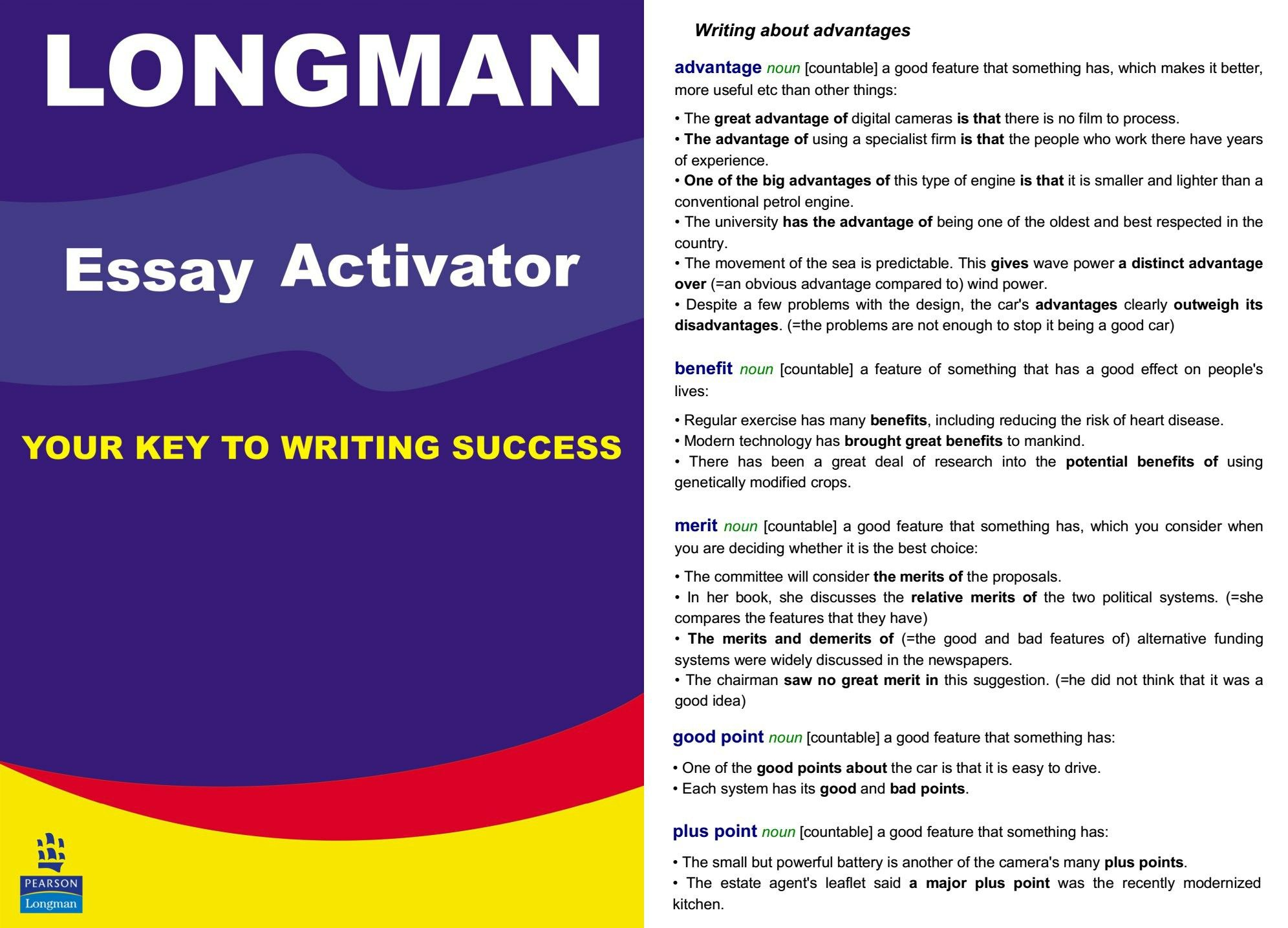 english longman essay The longman writer rhetoric and reader fifth edition  man composition and about usingthe longman write  what we emphasize when discussing the professional essays.