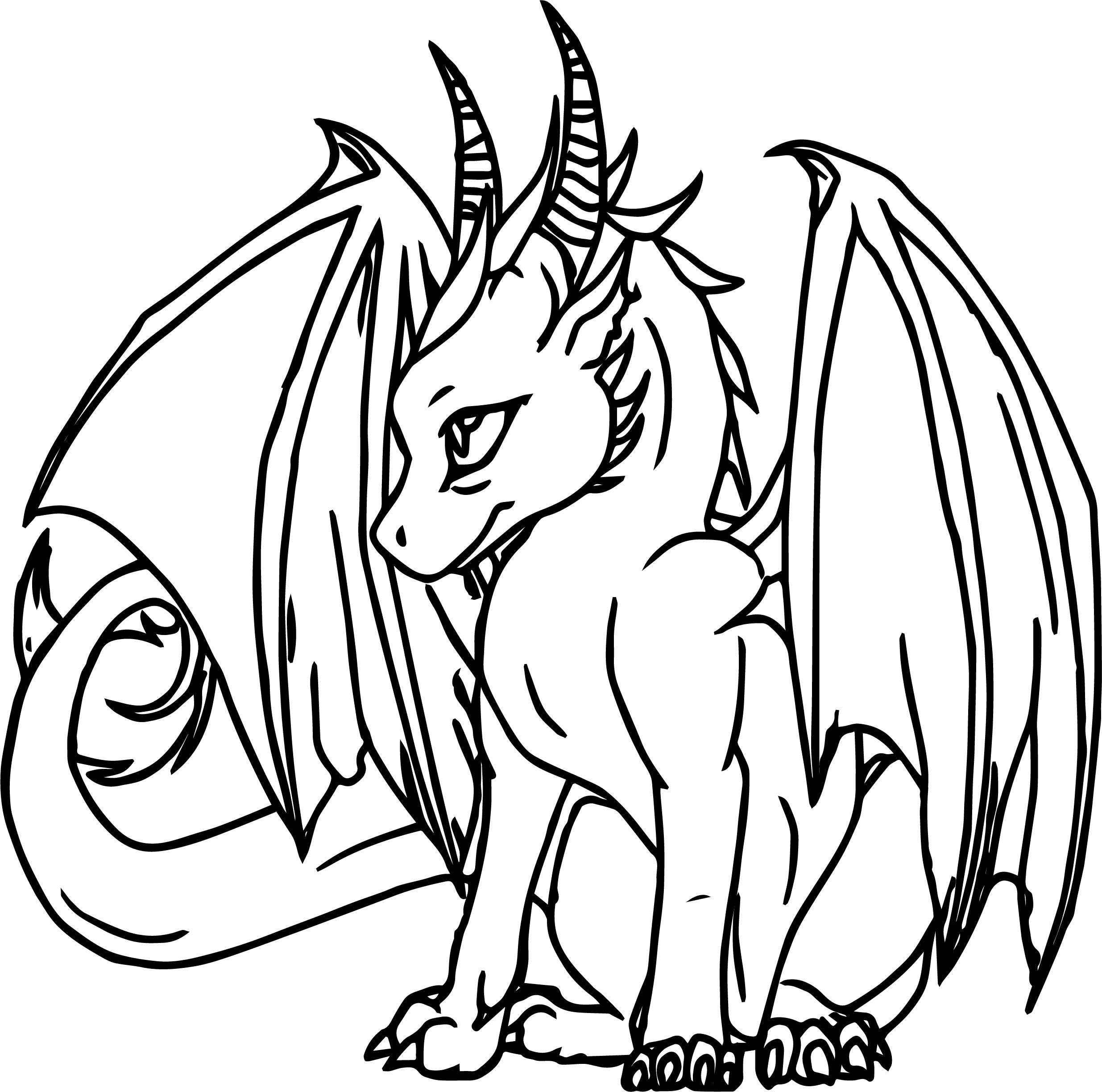 nice Power Dragon Coloring Page | Dragon coloring page ...