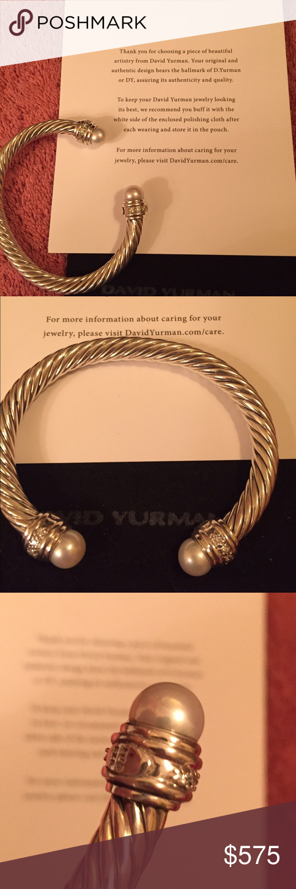 David Yurman Pearl Bangle Size Small Will Fit A Wrist Of 4 5 To