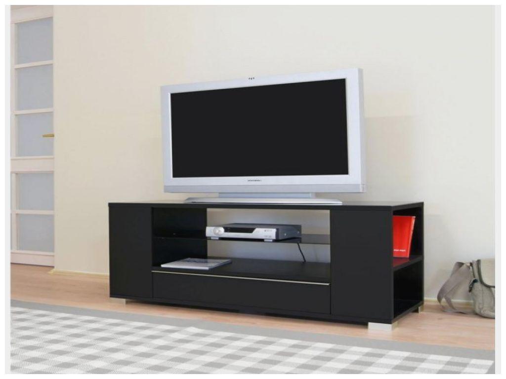 Inspirant Meuble Tv Noir Laque 110 Cm Meuble Tv Noir Meuble Tv Meuble Tv Design