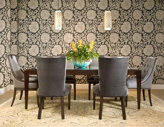 This Setting Is Ready For A Chic Dinner Party With A Dining Set By Duralee  Fine