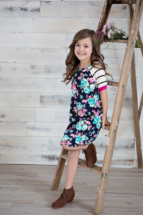 dfe8ce667f36 Little Girls Floral Dress