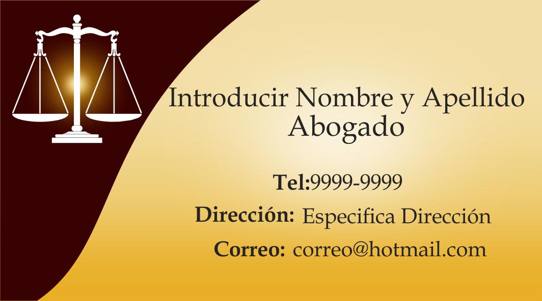 espaciohonduras Tarjetas de presentación para abogado y notario http ...