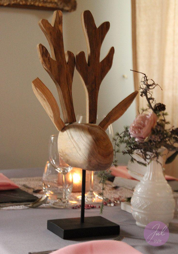 Schon Weihnachtsdeko: Großer Elch Kopf Aus Holz, Ca. 40 Cm Hoch. Www