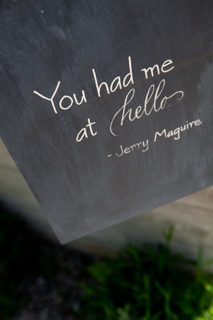 You had me at hello ~ Jerry Maguire #quotes