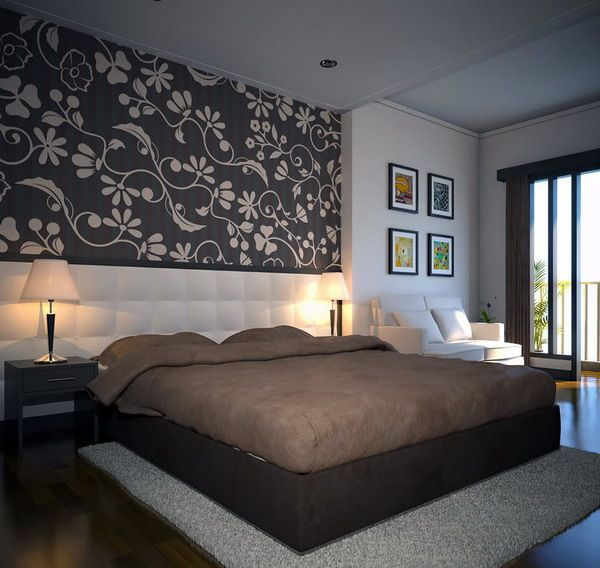 Modern Bedroom Design Ideas For Rooms Of Any Size: Elegant King Size Bedroom Wall Decoration Ideas. With