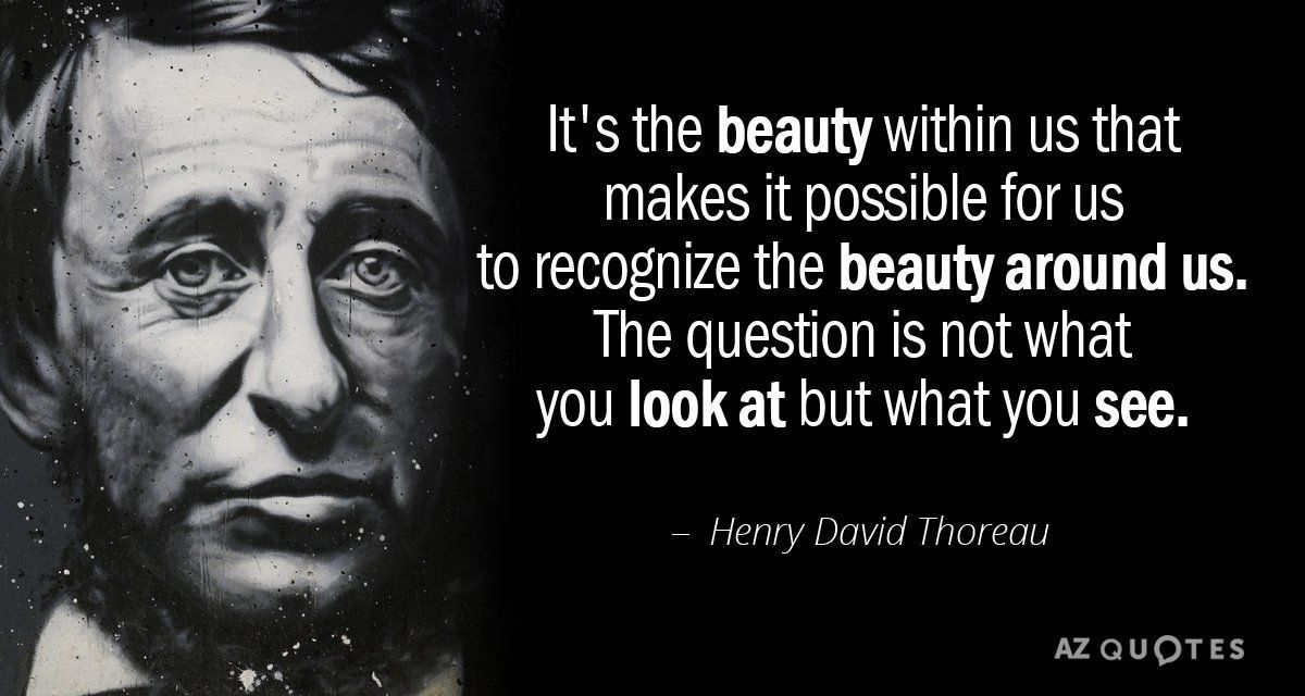 Henry David Thoreau Quote Its The Beauty Within Us That
