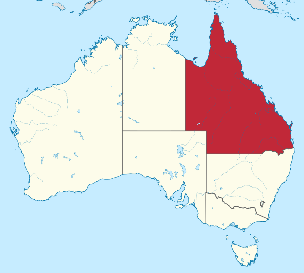 Map of australia with queensland highlighted tattoos pinterest map of australia with queensland highlighted gumiabroncs Choice Image