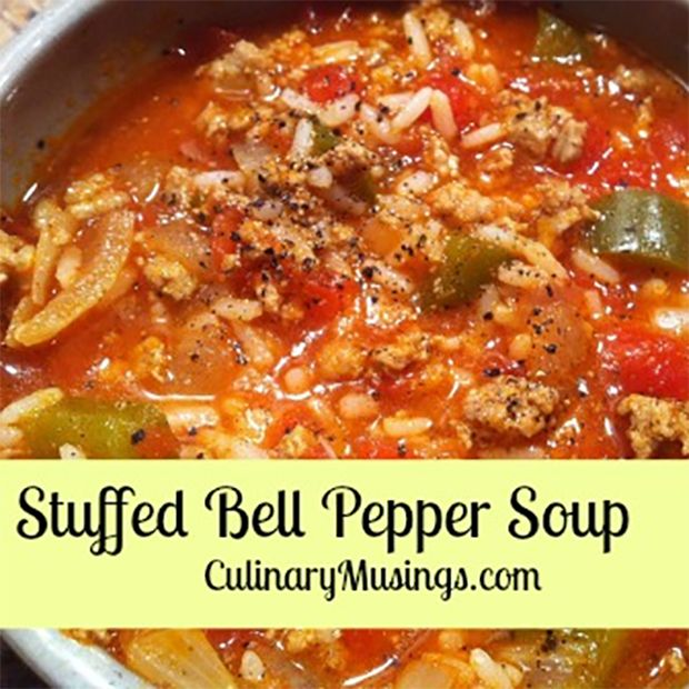 Stuffed Bell Pepper Soup In The Dutch Oven Recipe Stuffed Peppers Easy Dutch Oven Recipes Stuffed Pepper Soup