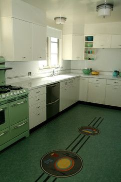 Retro Linoleum Tile Flooring Kitchen Design Ideas Pictures Remodel And Decor Page 22 Retro Kitchen Kitchen Flooring Linoleum Kitchen Floors