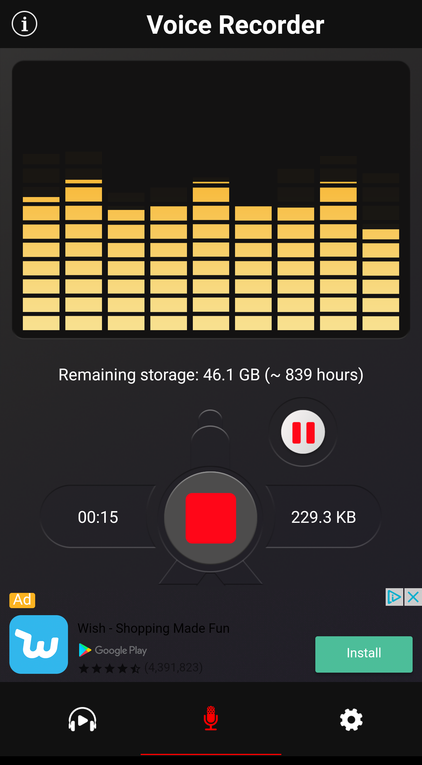 Make a voice recording on an Android phone Android phone