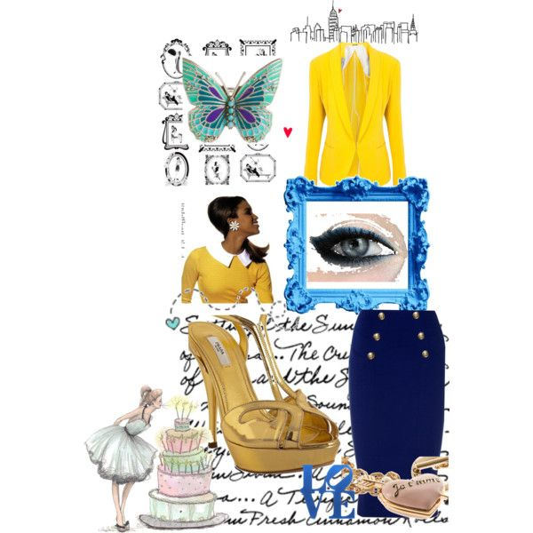 Blue Yellow Gold, created by ycampi.polyvore.com