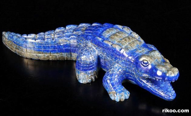 Lapis Lazuli Crystal Crocodile