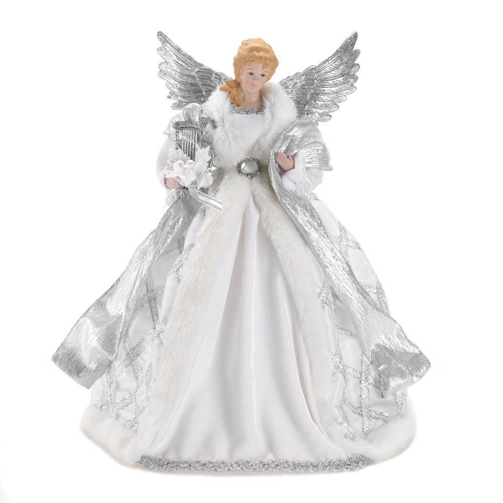 White Christmas Angel Tree Topper | Ideas | Pinterest | Christmas ...