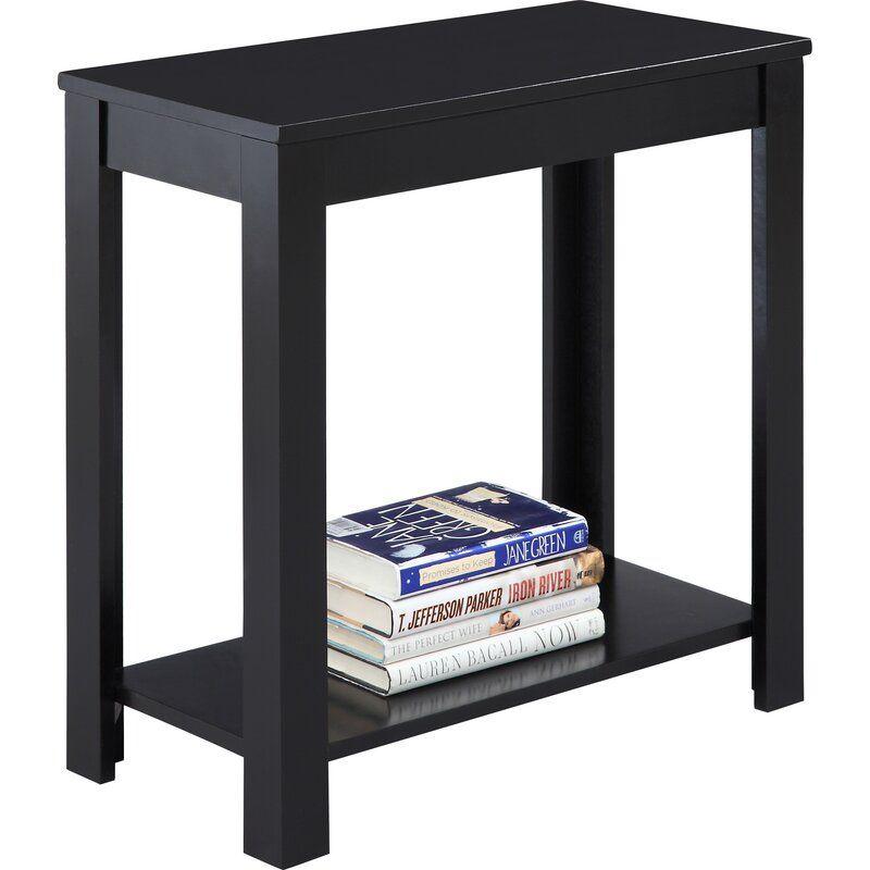 Narrow Jet Side Table Rubbed Black Sofa Side Table Narrow Side Table Wooden Side Table