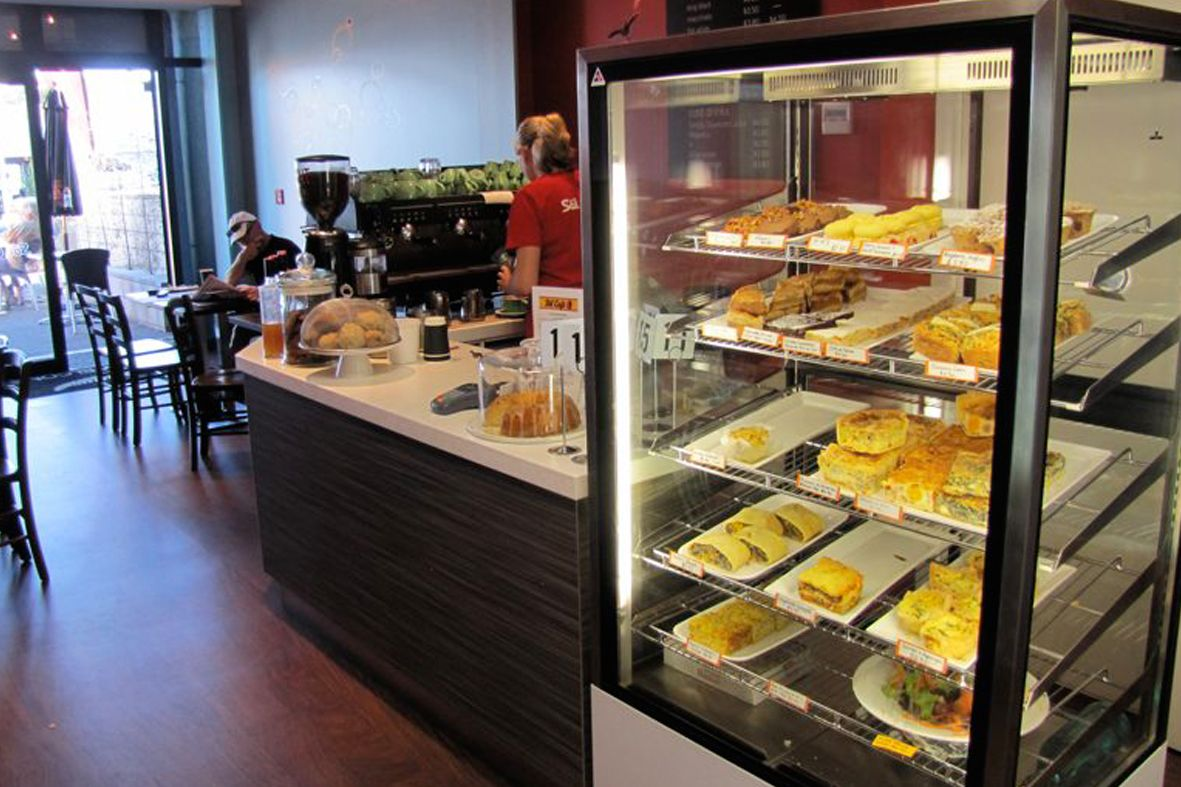 Sol Cafe foodservice counter. Cafe servery counter and