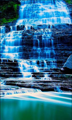 Very Attractive 3d Waterfall Live Wallpaper Hd Image Include Dynamic Beautiful Rainbows Beautiful Live Wallpaper Live Wallpapers Desktop Background Pictures