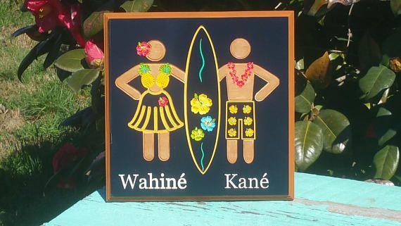 outdoor indoor unisex tropical beach bathroom sign home decor rh pinterest com