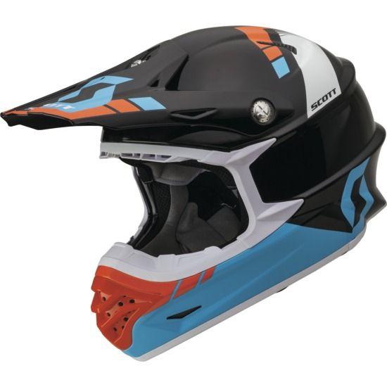 Helmet Scott 350 Pro Photon Ece Blue Black Xs Motocross Helmets