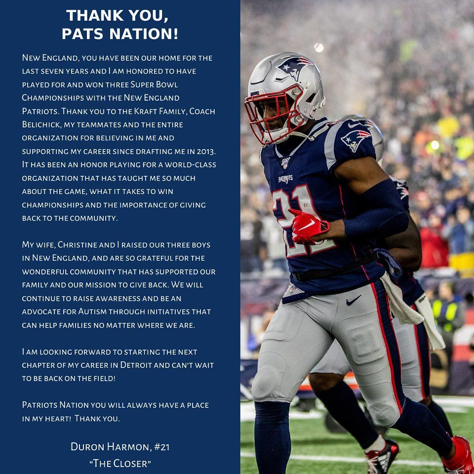 Pats Nation I Love You And Will Miss You Guys Giladhaas In 2020 New England Patriots England Sports Patriots
