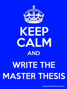 Masters degree with or without thesis